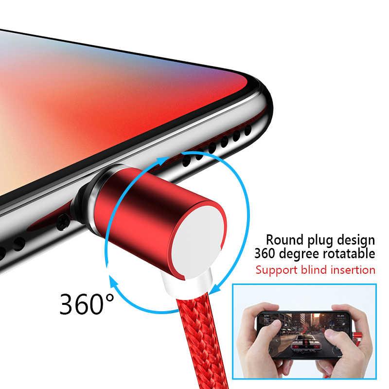 Nohon 90 Gradi Magnetico Cavo Usb di Tipo C di Ricarica per Samsung S8 Più Il Magnete Carica Veloce per Xiaomi 5 6 huawei P9 Cavo Del Caricatore