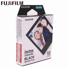 2018 Genuine Fujifilm Instax 10 Sheet SQUARE Black Frame film Photo paper For SQ10 Hybrid share sp-3 SQ Camera