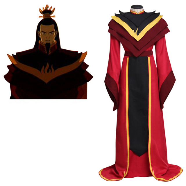 Avatar: The Legend of Aang The Last Airbender Fire Lord Ozai Cosplay  Costume Halloween Carnival