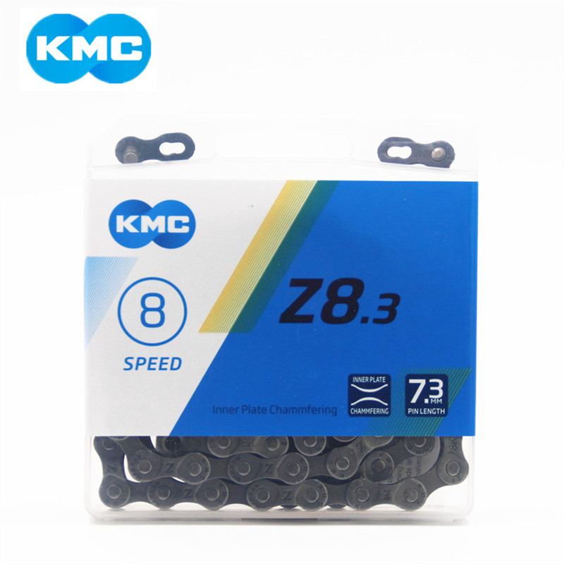 Brand KMC Z8.3 Bicycle Chains 116L 8 Speed Bicycle Chain With Original Box And Magic Button For Mountain Road Bike Bicycle Parts