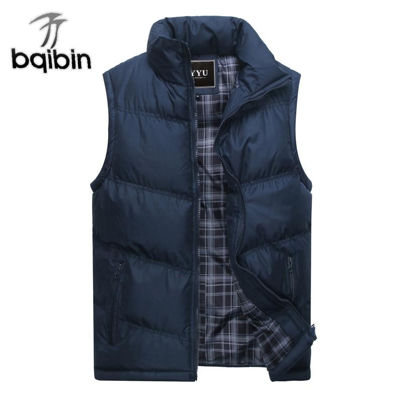 2019 nueva marca para hombre chaqueta sin mangas Chaleco de moda de invierno, abrigos Casual para hombre de algodón acolchado Chaleco de los hombres espesar chaleco 3XL