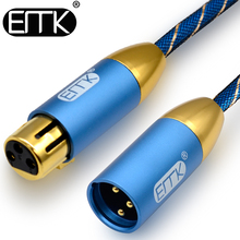 цены на EMK XLR Cable Microphone Audio Sound Cannon Cable XLR Male to Female Extension Aux Cable 10m 15m for Mixer Stereo Amplifier  в интернет-магазинах