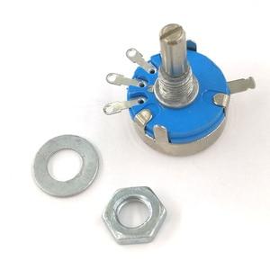 Image 3 - 100 stücke wh5 1A 3 Terminals 4mm Runde Welle Rotary Taper Carbon Potentiometer 470 1K 1,5 K 4,7 K 10K 22K 47K 100K 220K 470K 1M ohm