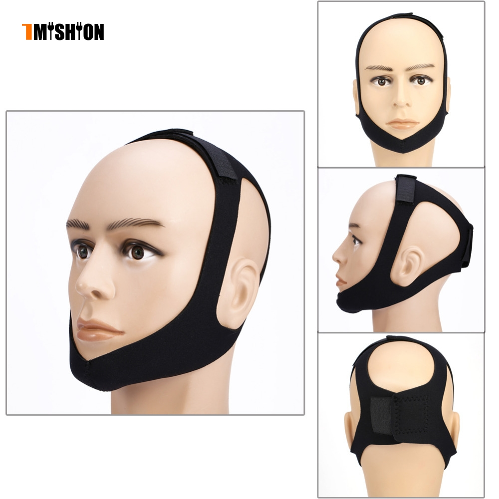Sleep Mask Triangle Anti-snore Headband Snore Belt Stop Snoring Jaw Support Strap For Woman Man Health Care Sleeping Tools