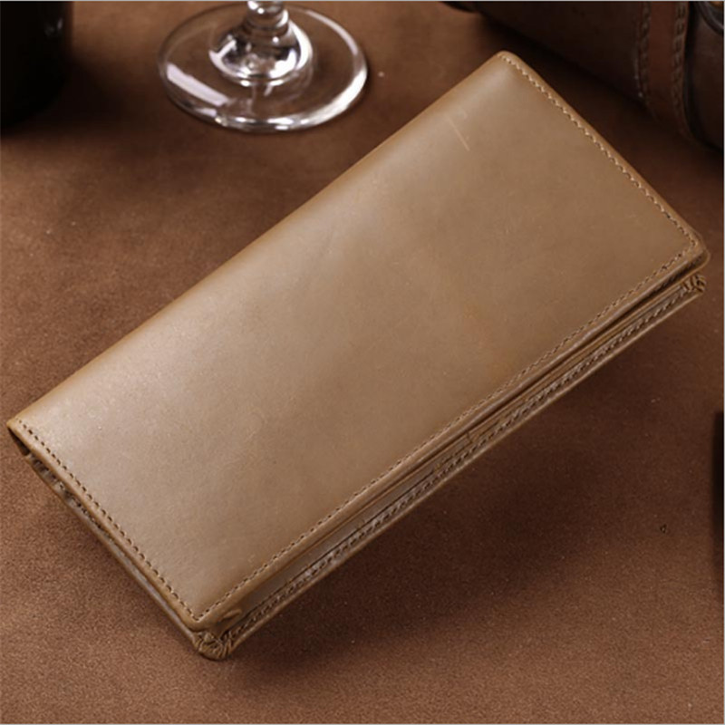 Mens Boy Leather Long Wallet Credit Card Holder Purse Handbag Case Clutch Wallets Free Shipping