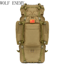 Outdoor 100L Large Capacity Tactical Climbing Backpacks Waterproof Nylon Travel Sport Hiking Climbing Camping Bags Men Mochila