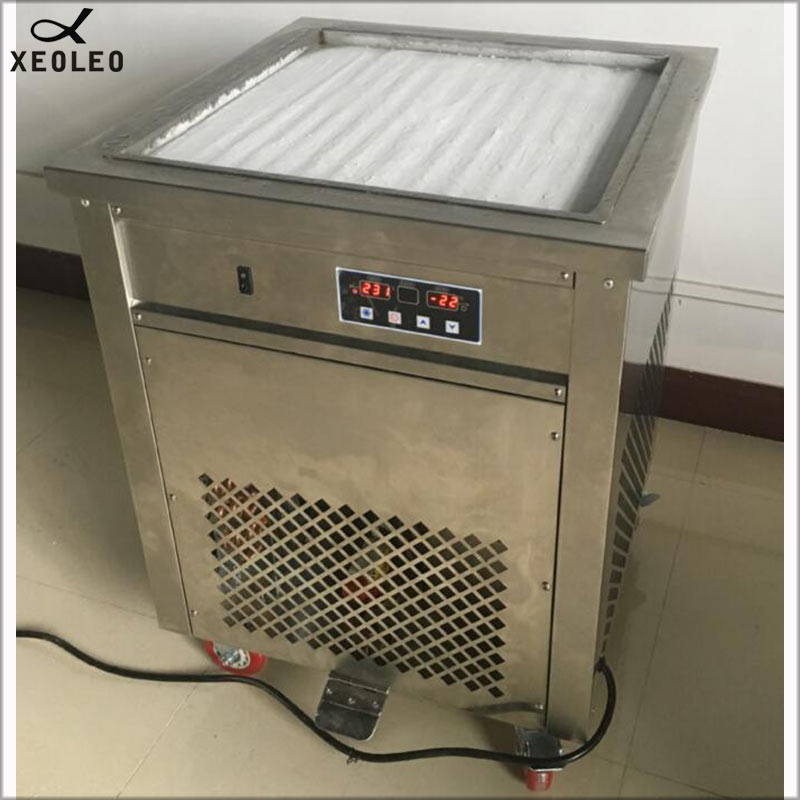 XEOLEO Ice fry machine Yogurt Ice cream fring machine Roll Ice machine 1800W Fry Roll Ice cream CE approved 50cm Square pot in Ice Cream Makers from Home Appliances