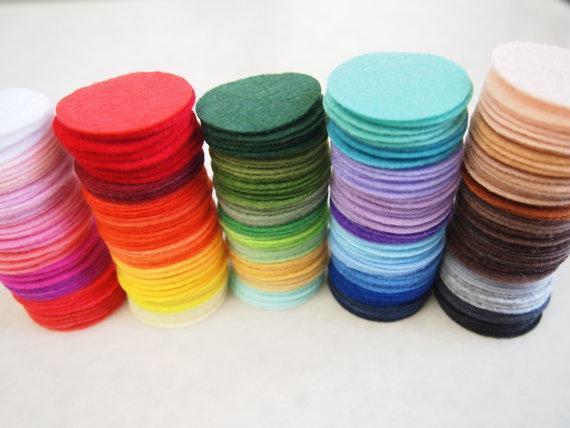 Фетровые круги из фетра, 1500 шт., 4,0 см, несколько цветов, оптовая продажа, Бесплатная доставка