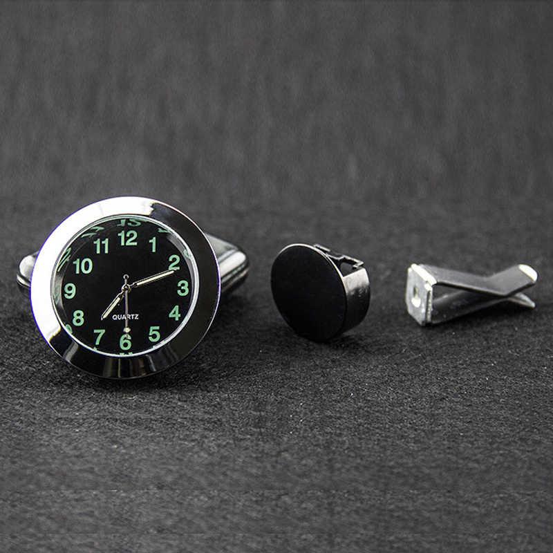 Carro-Styling EAFC Respiradouro de Ar Do Carro Relógio de Quartzo Auto Interior Mini Relógio Digital Luminoso Ponteiro Elegante Decoração Ornamentos