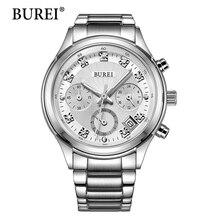 BUREI Femmes Montre À Quartz Dames Designer Horloge Montres De Luxe Classique En Acier Inoxydable Date Montre Femme Cadeau 2016 Vente Chaude