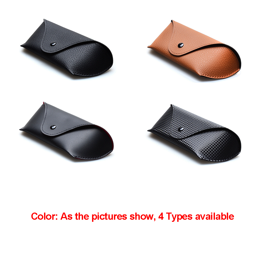 Vintage PU Leather Glasses Case for Men Women Soft Durable Glasses Box High Quality Portable Sunglasses Eyewear Box