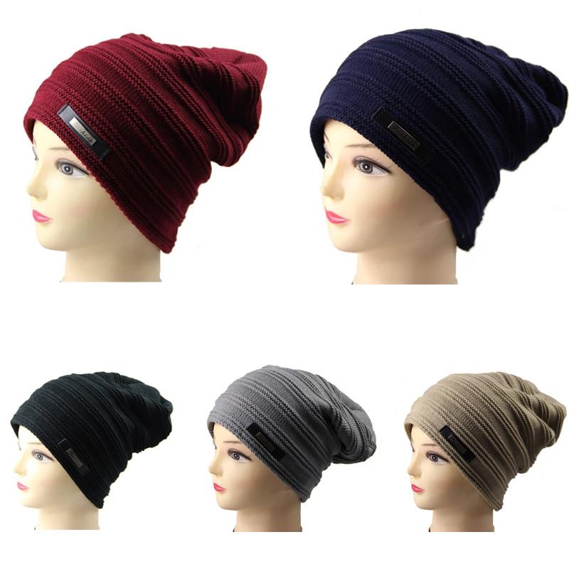 P 2017 Brand Beanies Knit Winter Hats For Men Women Beanie Men s Winter Hat  Caps Bonnet Outdoor Ski Sports Warm Baggy Cap c3bfef37a736
