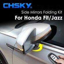 CHSKY автомобильный боковой набор складных зеркал для honda Подходит для honda Jazz авто боковое зеркало складывающаяся система зеркало заднего вида складное автомобильное Стайлинг