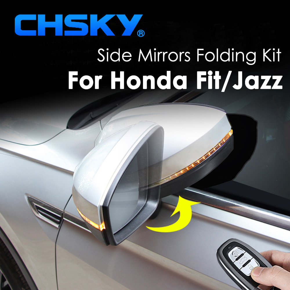 Chsky Car Side Mirror Folding Kit For Honda Fit For Honda
