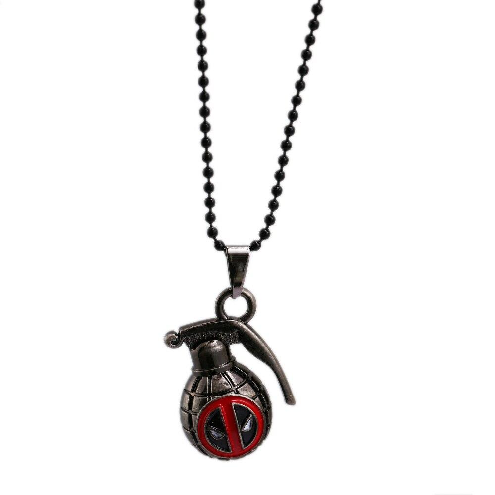 HSIC Superhero Deadpool Necklace 3D Bomb Toys Pendant