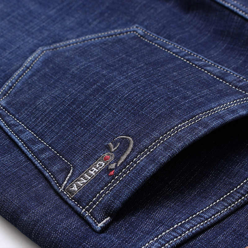 Бренд jantour, зимние теплые флисовые мужские джинсы, плотные Стрейчевые джинсовые прямые брюки, модные мужские хлопковые брюки, мужские 42 44 46
