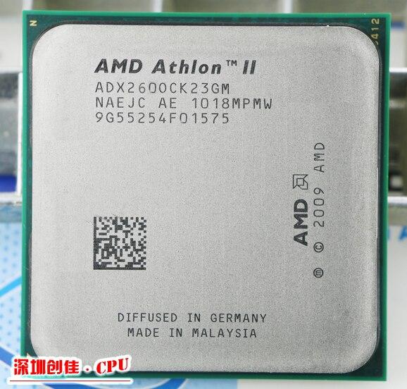 Livraison Gratuite pour AMD Athlon II X2 260 3.6 GHz AM3 938-pin Processeur 65 W Dual-Core 2 M Cache 45nm Bureau CPU scrattered pièces