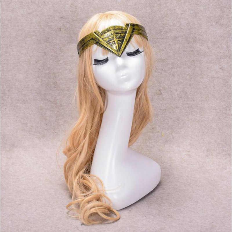 Wonder Woman Headwear ผู้หญิงคอสเพลย์ฮาโลวีน Carnival Party Cool สไตล์ของเล่นทองหรือสีเทาปลอมตัว