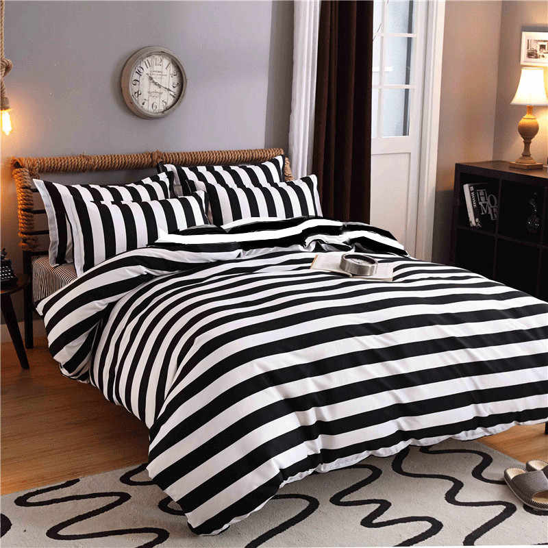 New Cotton Blend Bedding Set Duvet Cover Flat sheet Bed Sheet Pillowcase Fitted Sheet Twin Full Queen Size