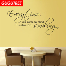 Decorate every time letter art wall sticker decoration Decals mural painting Removable Decor Wallpaper LF-1948 недорго, оригинальная цена