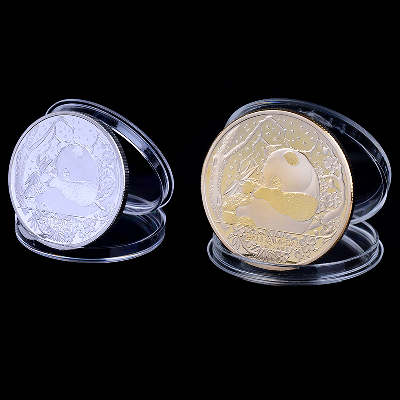 Gold Foil Plastic Simulation Commemorative Coin Travel Crafts Collection Gift