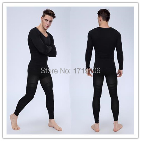 5cd3ce0e08496 Men Body Shaper Shapewear Shirt Pants Compression Slim Corsets Waist  Girdles Carry Buttock Thin Leg Male