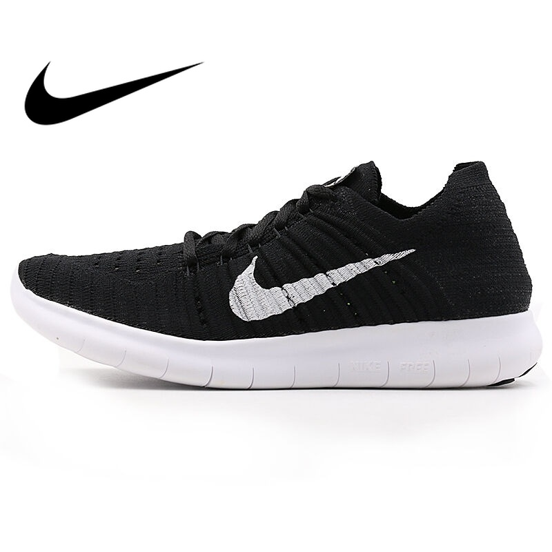 Original WMNS NIKE FREE RN FLYKNIT Women's Running Shoes New Lace-up Low-cut Breathable Wear-resistant Jogging Sports Sneakers сникеры nike сникеры wmns nike court borough mid