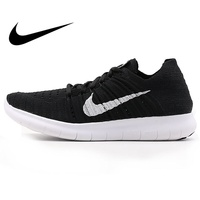 Original WMNS NIKE FREE RN FLYKNIT Women's Running Shoes New Lace up Low cut Breathable Wear resistant Jogging Sports Sneakers