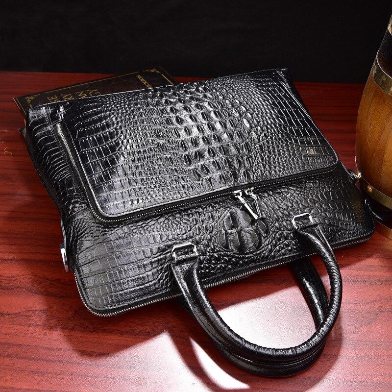 Wholesale High quality Genuine leather Laptop bag 14 15 4 inch Men Casual Shoulder bag Messenger