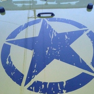 """Image 4 - New Army Star Distressed Decal Large 16"""" Approx Vinyl Military Hood Graphic Body 40CM Sticker Fits For Jeep Fashion Cool#274981"""