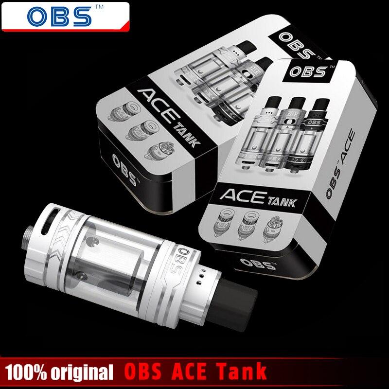 Original OBS ACE Tank 4,5 ml mit Keramik 0,45 Spule Mit RBA Spule OBS ACE Zerstäuber für 510 Gewinde Batterie