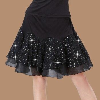 цены New sexy Woman Latin Dance Skirt For Sale Cha Cha/Rumba/Samba/Tango skirt For Dancing Practice Performance Dancewear