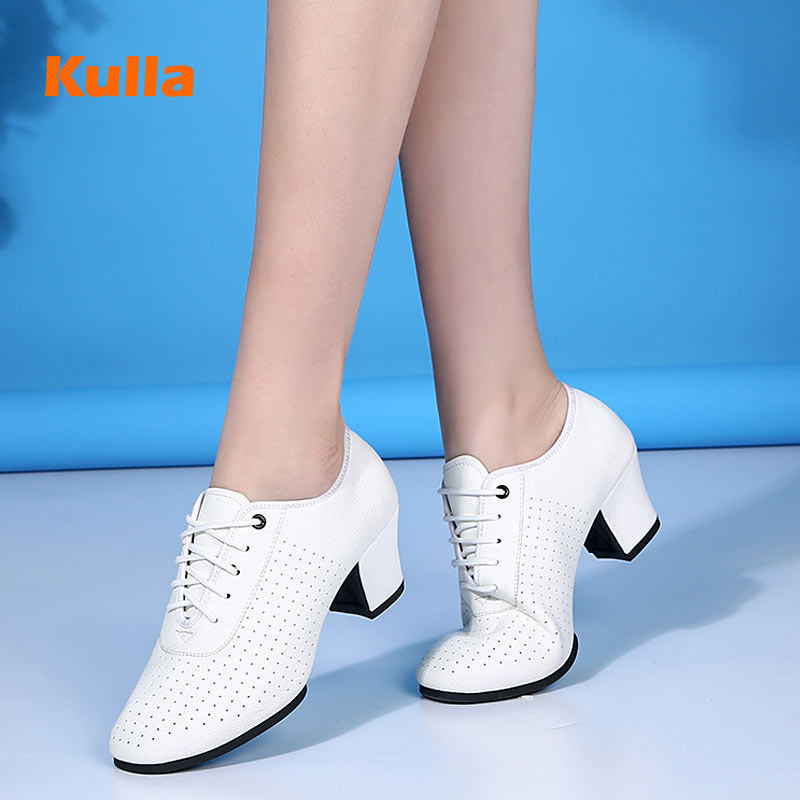 Dance-Shoes Ballroom Teachers Practice Women Woman's Ladies Indoor/outdoor Soft-Sole title=