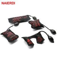 4PCS Black NAIERDI Pump Wedge Locksmith Tools Full Size Auto Air Wedge Airbag Lock Pick Set Open Car Door Lock Hardware Tool
