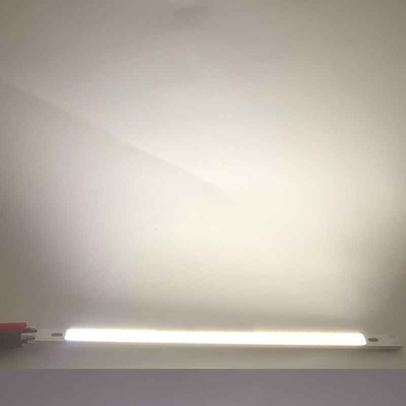 LED COB 200x10mm DC12-14V 10W Light Bar Cold White Color Flashlight Source For Car DIY Cob Strip Illumination