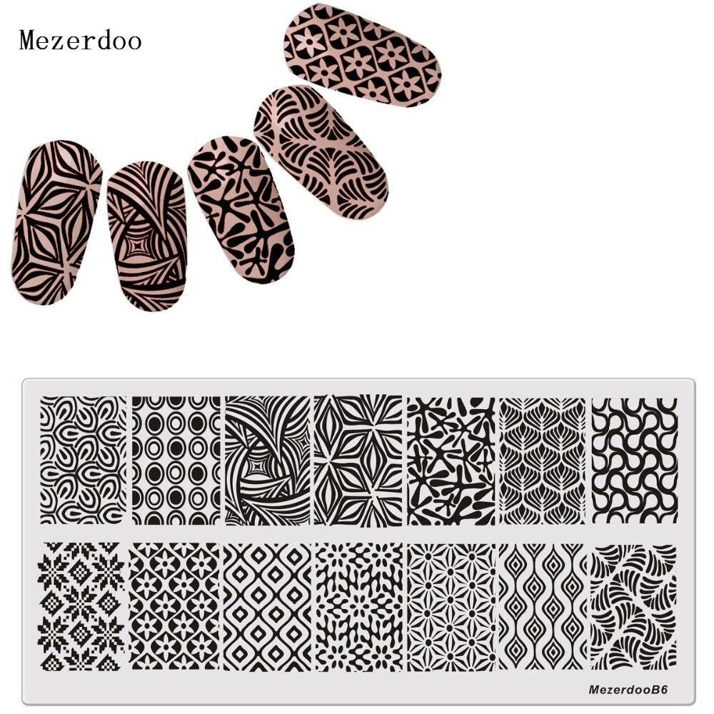 Platte Gras Blätter Design Nagel Stamping DIY Bild Konad Nail art ...