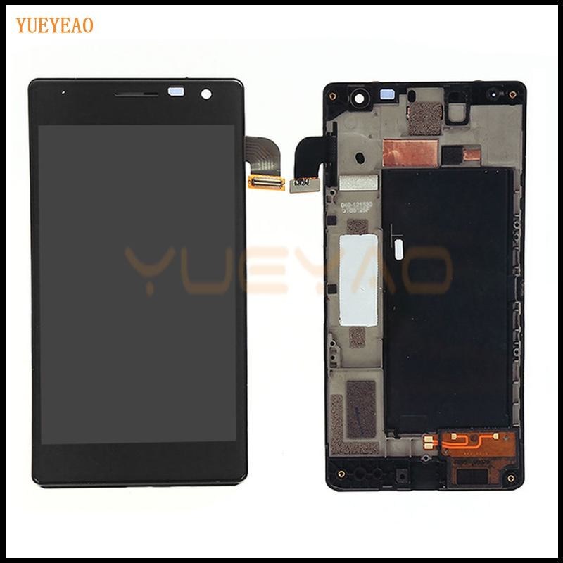 YUEYAO For Nokia Lumia 730 735 LCD Display Touch Digitizer Screen Assembly With Frame yueyao for nokia lumia 925 lcd display touch screen digitizer with bezel frame full assembly replacement parts