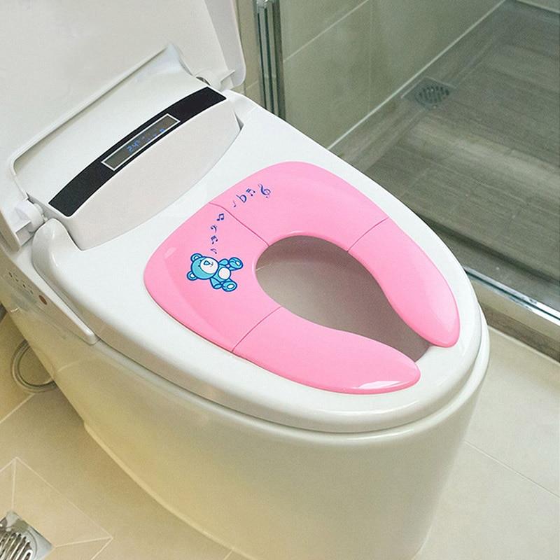 Baby Travel Folding Potty Seat Toddler Portable Toilet Training Seat Children Urinal Cushion Kids Pot Chair Pad Mat New
