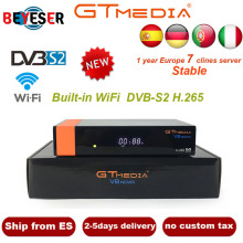 Freesat V8 upgrade Gtmedia V8 NOVA Satellite TV Receiver DVB-S2 Europe Clines for 1 Year Built Wifi Dongle High Quality Stable цена и фото