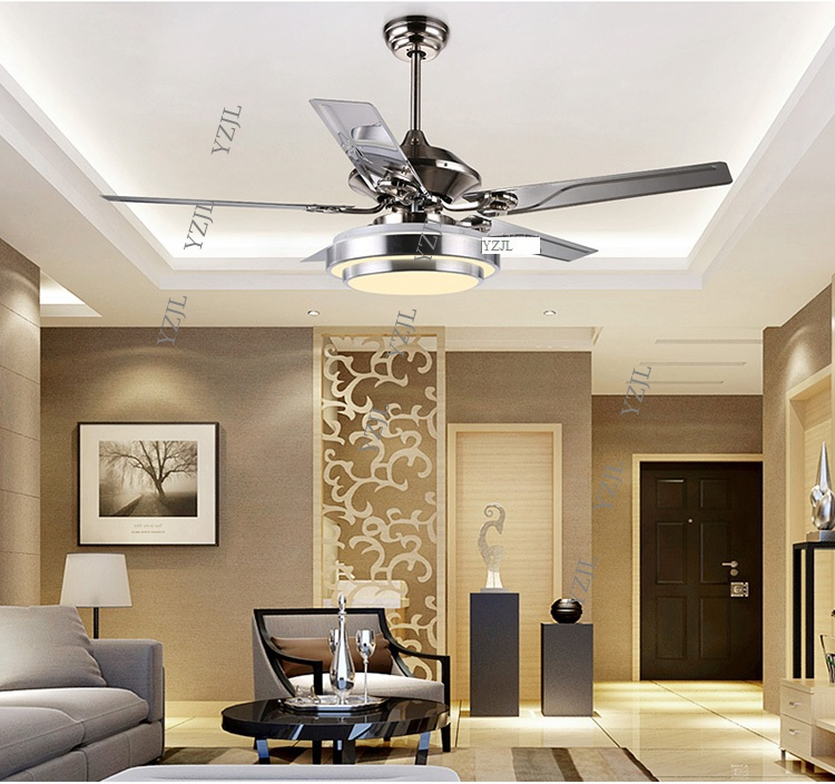 Aliexpress.com: Compre Ceiling Fan Lights Modern Minimalist Restaurant Living  Room 52inch 48 Inch Remote Control Fan Ceiling Lights LED Four Light De ...