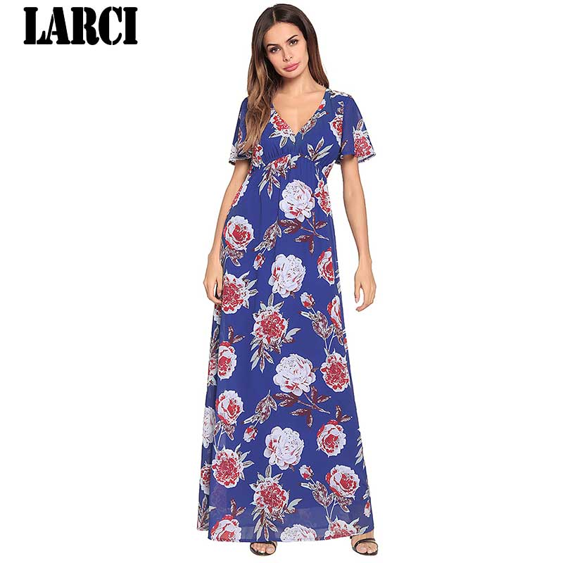 4b38e926d9be LARCI lower Print Swing Dress Women short blue white turtleneck Casual  Short Dress 2018 Summer Going Out Shift Dress D1381-in Dresses from Women s  Clothing ...