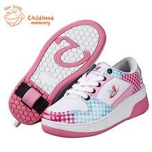 Heelys Baby Roller Skates Shoes Single Wheels Baby Fashion Sneakers Baby Boys Girls Sport Skating Shoes Chaussure Enfant Ruedas