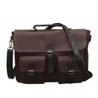 Vintage Men Messenger Bag Genuine Leather Casual Handbag Business Laptop Cross Body Shoulder Bags Retro Male Briefcase