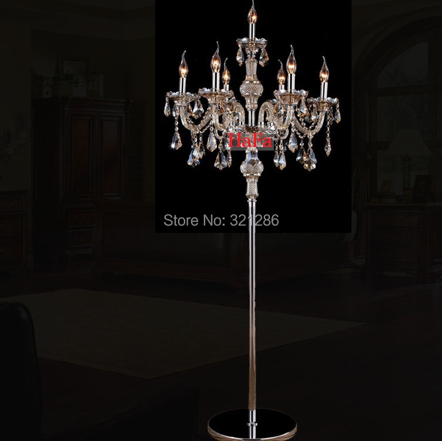 Aliexpress.com : Buy Free shipping Fashion crystal floor lamp ...