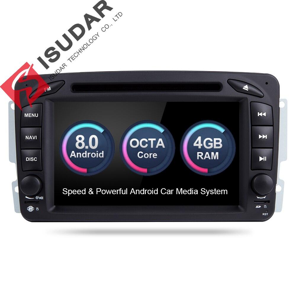 Isudar Автомобильный мультимедийный плеер Android 8,0 gps 2 автомобиля гама радио DSP для Mercedes Benz/W209/ w203 Viano/W639/Vito FM радио