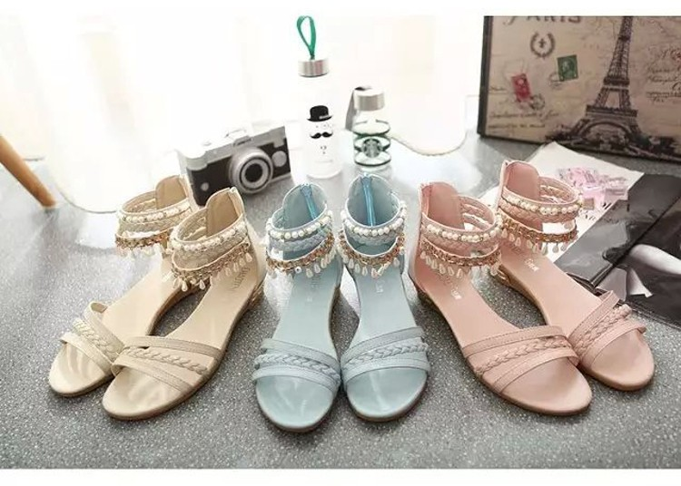 women sandals 2016 fashion Bohemia gladiator sandals women beading sandalias mujer wedges shoes for women 2016 new spring DT141 (9)