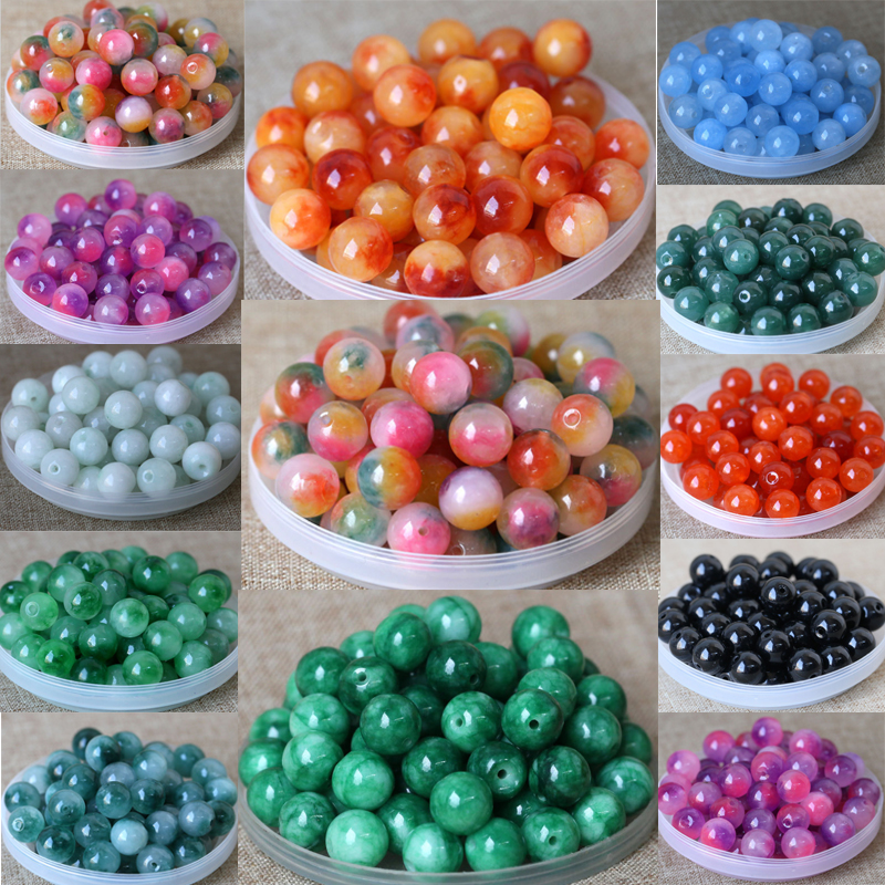 20pcs 50pcs 8mm charms natural beads for jewelry quality making needlework Green kralen bead rose handmade DIY Accessories Gifts in Beads from Jewelry Accessories