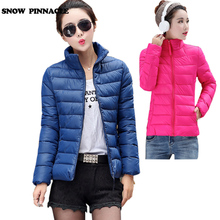 SNOW PINNACLE Winter jacket women Short Warm cotton padded Parks coat Thicken female outwear jacket plus size L-4XL 10 colors