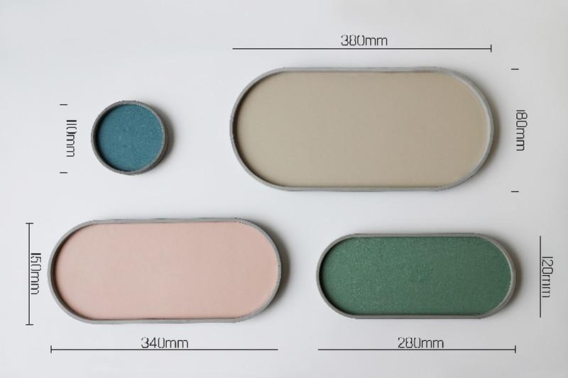 Bandeja de concreto molde de silicone bandeja
