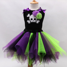 OPZC 2017 Toddlers Baby Girls Halloween Costume Clothing Sets Tshirt + Tutu Lace Skirts Suits Kids Children Clothes